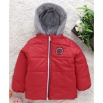 Full Sleeves Hooded Jacket American Pro Patch – Red