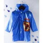 Babyhug Full Sleeves Hooded Raincoat Iron Man Print -Blue