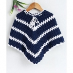 Babyhug Hand Made Poncho – Navy Blue