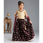 Lehenga With Sleeveless Choli & Dupatta Sequin Work