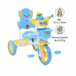 Musical Froggy Tricycle With Front & Rear Basket – Blue