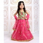 Singlet Embroidered Choli And Lehenga With Dupatta