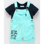 Babyoye Cotton Dungaree With Tee – Navy Blue