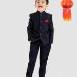 Party Wear Full Sleeves Woven Nehru Jacket And Trouser