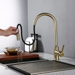 Bagnolux Brushed Gold Brass Kitchen Faucet Sink