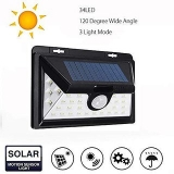 Bentag 5W 34 LED (Large) Solar Outdoor Wall Light – Pack of 1