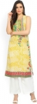 Only at Rs. 504 Women Printed Cotton Blend Straight Kurta