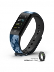 Blink Unisex GO Black & Blue Camouflage Print Fitness Band