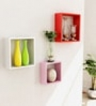 Boxy Modular Wall Shelf (Set of 3) in Multicolour