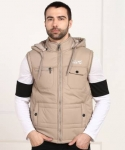 Sleeve less Solid Men's Winter Jacket