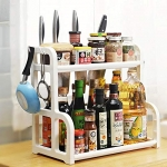 Callas 2-Tier Multi Functional Kitchen Rack with 4 Hooks