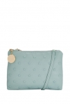 Caprese Powder Blue Textured Sling Handbag