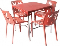 Cello Red Plastic Table & Chair Set  (Finish Color – Red)