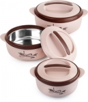 Only at Rs. 569 Pack of 3 Thermoware Casserole Set