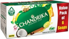 Only at Rs. 181 Chandrika Ayurvedic Soap  (6 x 125 g)