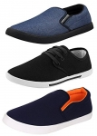 Chevit Men's Combo Pack of 3 Casual Shoes