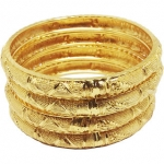 Gold Plated Women To Wear Designer Alloy Bangle Set