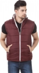 Christy World  Sleeveless Solid Men Jacket