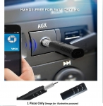Clip-On 3 Button 3.5mm Aux Bluetooth Audio Jack