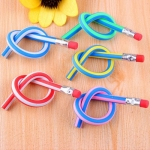 Colorful Magic Bendy Flexible Soft Pencil with Eraser 10pcs