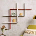 CraftOnline wooden folding rack Wooden Wall Shelf