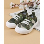 Cute Walk by Babyhug Canvas Shoes Camouflage Print