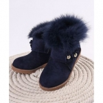 Party Wear Winter Boots Floral Motifs