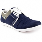 Cyro Men's Blue Lace-up Smart Casual Shoes