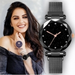 Daniel Jubile  Indian Rishtey Black 1 Diamond Dot Watch
