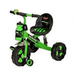Motocross Stylish Tricycle With Sipper Bottle – Green & Black