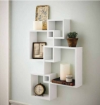 Decorhand Wall Mount Set of 4 White Wall Shelves Storage