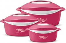 Milton Delight Pack of 3 Thermoware Casserole Set  (3000 ml)