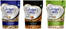 Delight Nuts Dry Fruits Combo Pack-Almonds, Cashew & Pistachios-Roasted & Salted