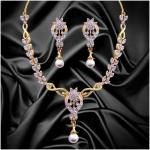 Dg Jewels Classic Pearl Necklace Set
