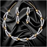 Dg Jewels Stunning Cz Necklace Set