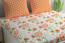 Only at Rs. 413 Cotton 1 Queen Bedsheet