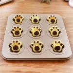 DIY Baking Tray 9 Cartoon Cat Paw Cake Baking Mold