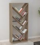 Dokusho Book Shelf cum Display Unit in Brown Finish