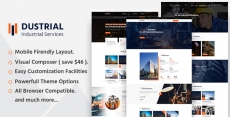 Dustrial – Factory & Industrial WordPress Theme