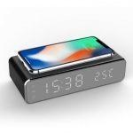 Electric LED Alarm Clock With Phone Wireless Charger
