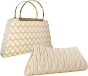 Element Cart  Party, Formal, Casual White Clutch