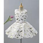 Leaves Detailed Sleeveless Dress With Belt
