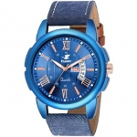 Espoir Analogue Stylish Blue Dial Day and Date Men's Watch