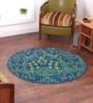 Ethnic Motif Nylon 2.3 X 2.3 Feet Machine Made Carpet