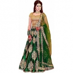 Embroidered Taffeta Silk Women's Party Wear Lehenga Choli