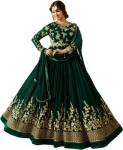 Basket Faux Georgette Embroidered Salwar Suit Material