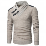 Fashion Pullover Slim Men Knitwear Sweater – Apricot M
