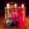 6PC SUPER Cute Glass Gel Candles Candle