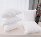 Back Microfibre Stripes Cushion Pack of 5  (White)