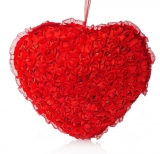 Dimpy Stuff Flower Heart Red – 55 cm  (Red)